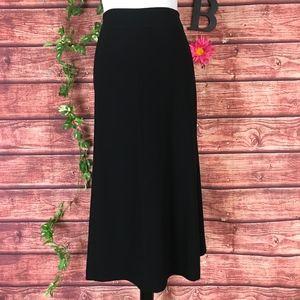 Kate Hill Skirt Plus 16W Long Classic Black A Line